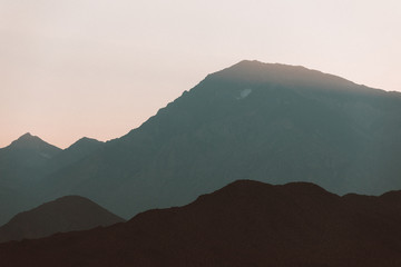 Moody mountain layers