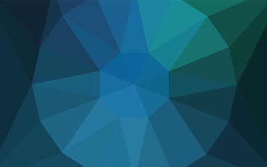 Light Blue, Green vector polygon abstract backdrop with a gem in a centre.