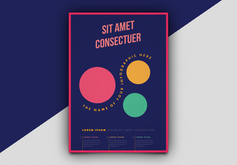 Infographic Poster Layout with Circle Elements