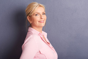Beautiful mature woman portrait