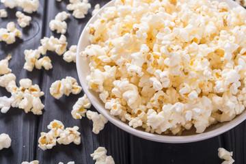 Popcorn snack in bowl