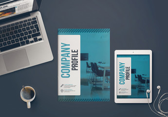 Teal and Black Brochure Layout