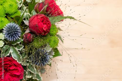 Blumen Strauß Rosen Geburtstag Muttertag Valentinstag Stock