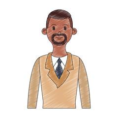Businessman cartoon profile vector illustration graphic design