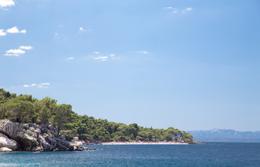 Brela coast in Croatia