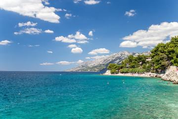 Brela coast in Croatia