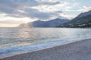 Lovely beach of Brela, Croatia