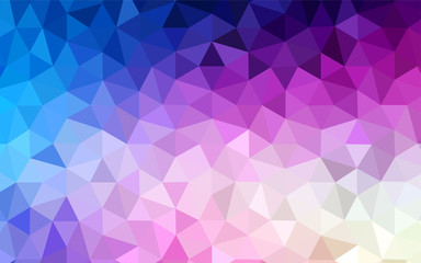 Light Pink, Blue vector low poly texture.