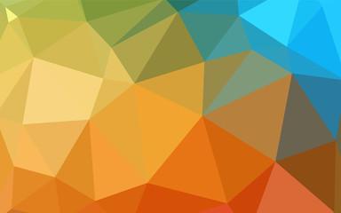 Light BLUE vector polygon abstract backdrop.