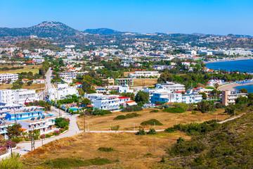 Faliraki beach aerial view, Rhodes