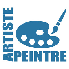 Logo artiste peintre.