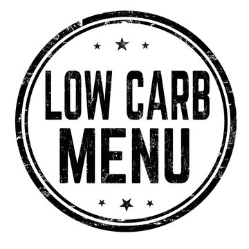 Low carb menu grunge rubber stamp