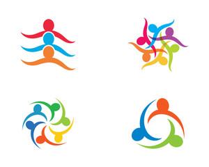 Community care symbol illustration design