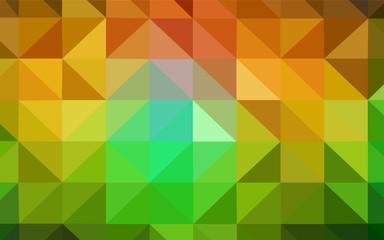 Dark Green, Yellow vector triangle mosaic template.
