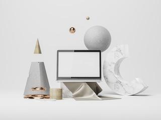 Device screen Mockup. 3d illustration
