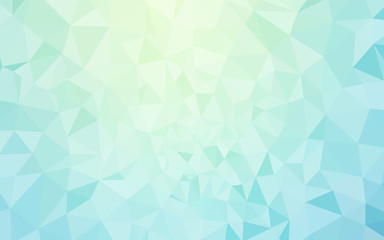 Light BLUE vector polygon abstract backdrop.