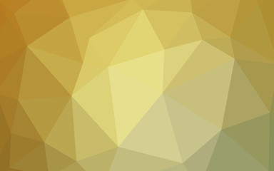 Light Green, Yellow vector triangle mosaic cover.