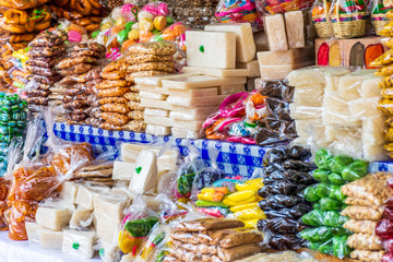 Traditional Guatemalan candy stall in Guatemala