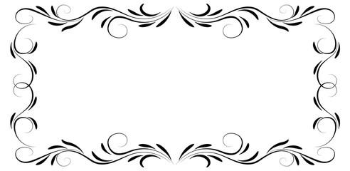 Decorative floral ornament frame