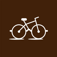 Glasses and bike logo icon vector template