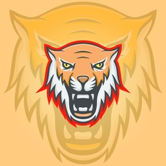Tiger mascot vector logotype head predator illustration emblem isolated sign sport