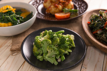 Stir fried broccoli or cah brokoli