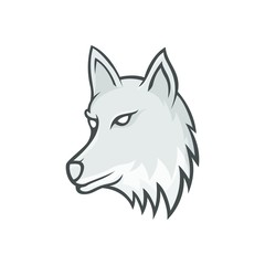Wolves wolf mascot head logotype vector design illustration emblem isolated animals sport
