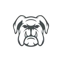 Bulldog vector mascot logo design sport illustration animal emblem isolated head