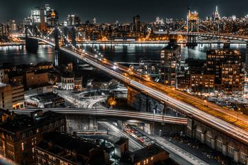 brooklyn bridge night exposure