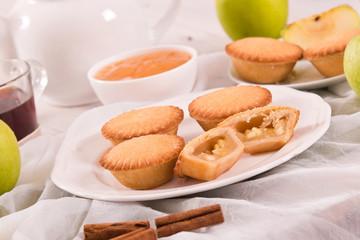 Apple pies.