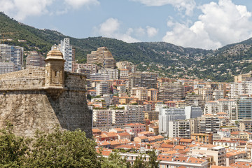 "Monaco - View on the city from the Rock (""Le Rocher"")"