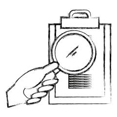 hand with checklist clipboard