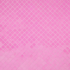 Pink mosaic texture and background.