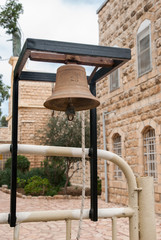 Bell of Deir Rafat or Shrine of Our Lady Queen of Palestine -  Catholic monastery in central Israel