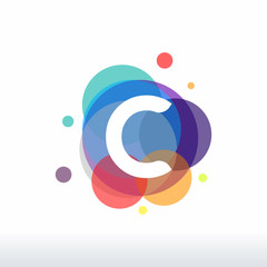 Abstract C Initial logo designs concept vector, Colorful C initial logo designs