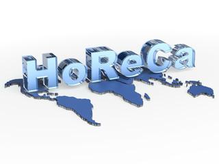 HoReCa acronym (Hotel Restaurant Cafe)