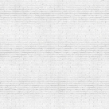 White brick wall texture, seamless background