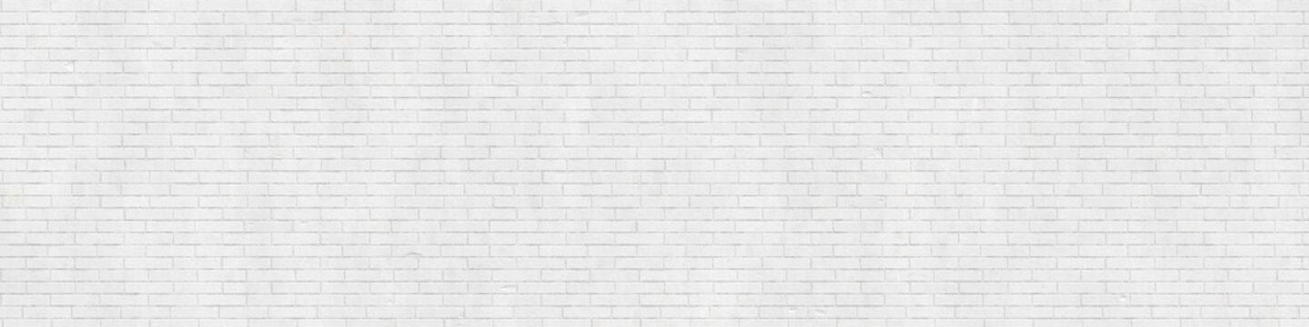 White brick wall texture, background, wallpaper