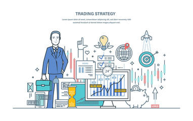 Trading strategy. Financial stock market, protection of capital market, e-commerce.