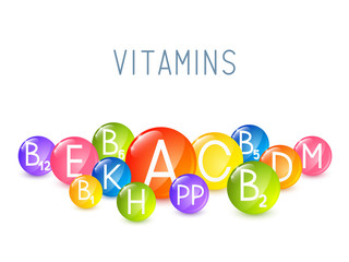 Set of main vitamins for Your design