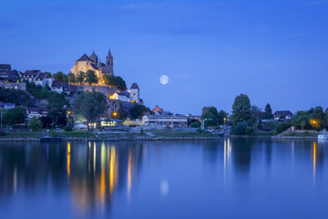 night view to the church of Breisach Germany