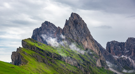 The beautiful Mountains view in Dolomites Italy.