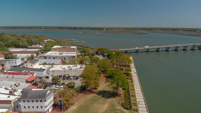 Aerial view of Beaufort, SC