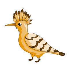 Hoopoe bird icon.