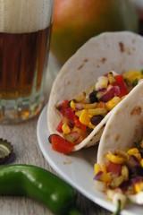 Mango Salsa Tacos with Waxworms