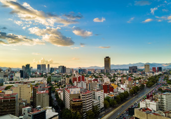 Foto op Canvas Afrika Mexico City - Chapultepec panoramic view - sunset