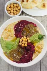 Hummus Pinwheel with Cricket Powder