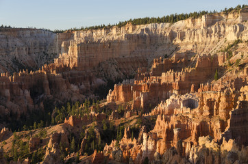 landscape on the bryce canyon in the united states of america
