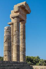 SReste des Apollon-Pythios Tempel auf dem Monte Smith über Rhodos-Stadt