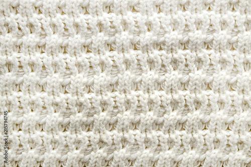Cropped Close Up Shot Of Seamless Woolen Knitting Pattern Of Fall